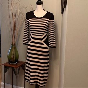 Julian Taylor striped sweater dress